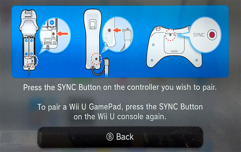 Press the sync button on the controller you wish to pair - GamePad - Wii U - Koppla