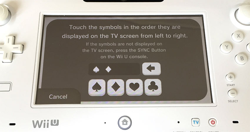 Wii U - Touch the symbols in the order they are displayed - Symboler skärmen