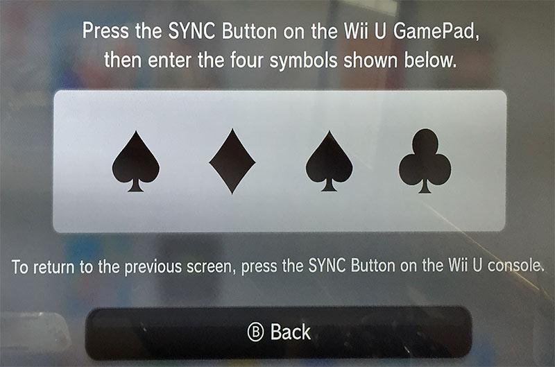 Press the sync button on the Wii U GamePad - Synka Wii U GamePad