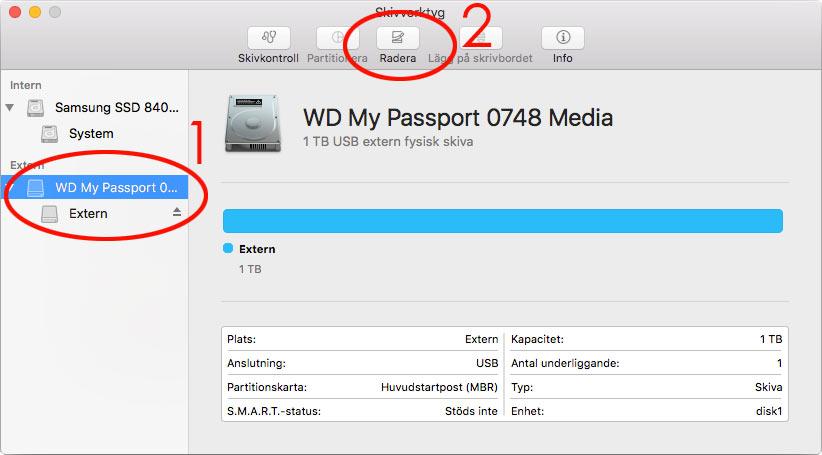 Byt hårddisk på Mac - Extern disk - Klona