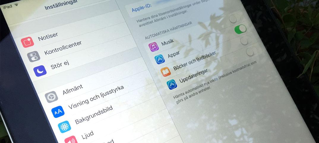 Stäng av automatisk hämtning av appar på iPhone och iPad