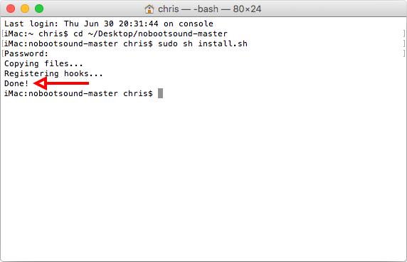 Installera Mac - Stäng av startljud - Script