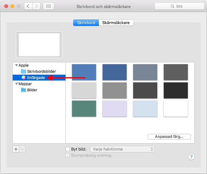 Mac - Enfärgade bakgrundsbilder - Skrivbordsbilder