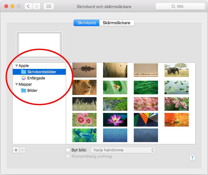 Mac OS X - Skrivbord och skärmsläckare - Skrivbordsbilder