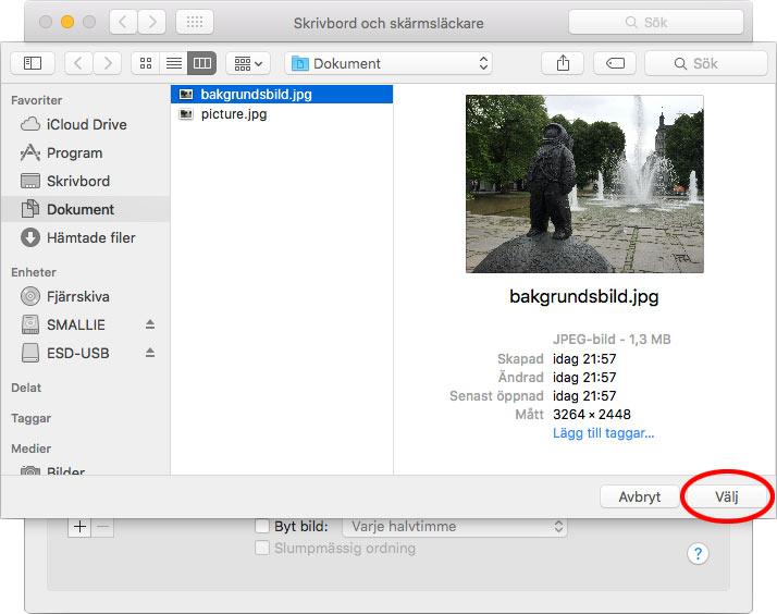 Mac - Välj en egen bakgrund - Skrivbord och skärmsläckare