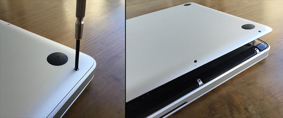 Öppna MacBook Pro - Skruva upp