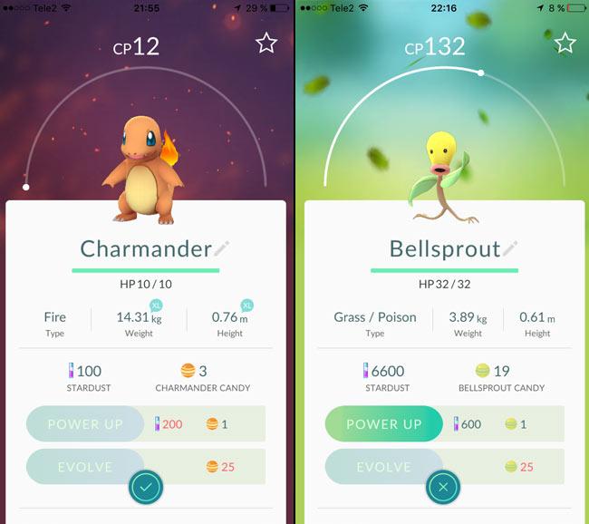 Pokémon Go - Charmander - Bellsprout - Tidigt i spelet