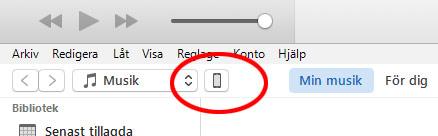 iTunes - Inställningar för iPhone och iPad