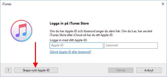 glömt lösenord apple id