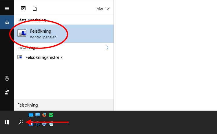 Windows 10 - Sök - Felsökning - Kontrollpanelen - Windows Update