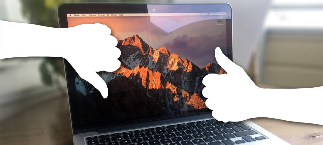 MacBook Pro 2015 mot MacBook Pro 2016 - Vilken är bäst - Vilken ska man välja
