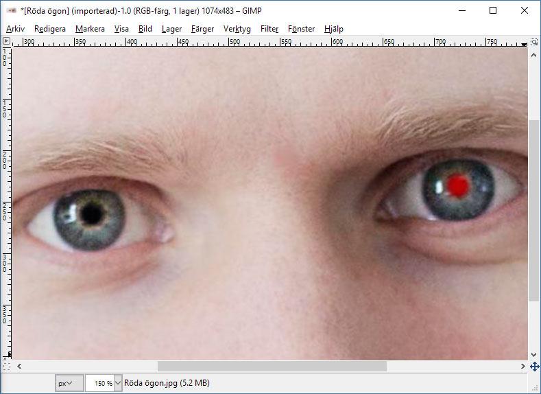 GIMP - Röda ögon borta - Ta bort - Gratis