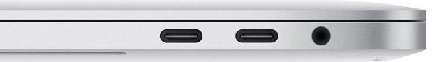 MacBook Pro 2016 - Två stycken USB-C - Thunderbolt 3 - portar