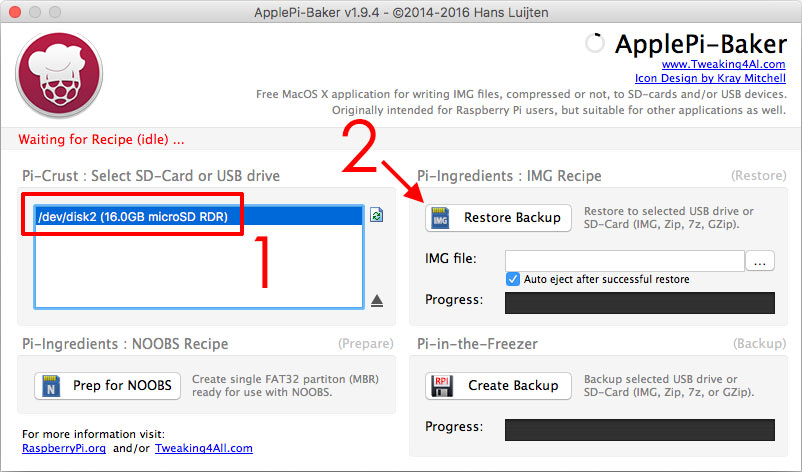 ApplePi Baker - Installera RetroPie - Raspberry Pi