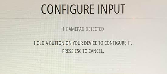 RetroPie - Configure Input - PS3-handkontroll