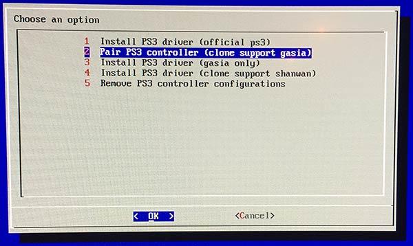 RetroPie - Pair - PS3-controller - Gasia - Installera - Synka