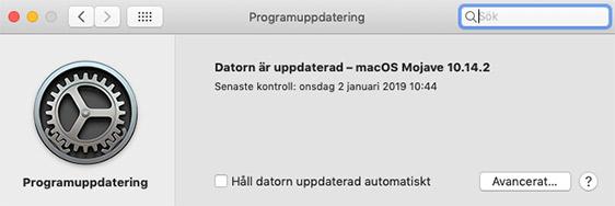 Uppdatera Mac-dator - Operativsystem - macOS