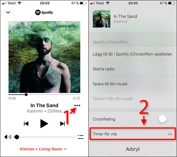 Sonos - Vilotimer - Timer för vila - Ställ in