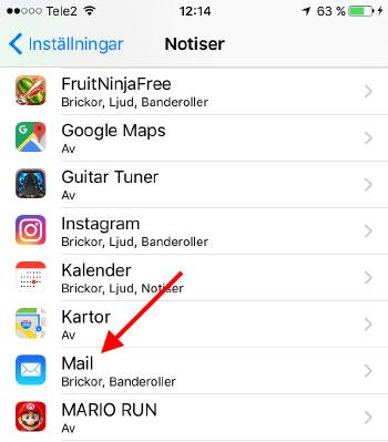Klicka på valfri app - Stäng av Brickor - Siffror