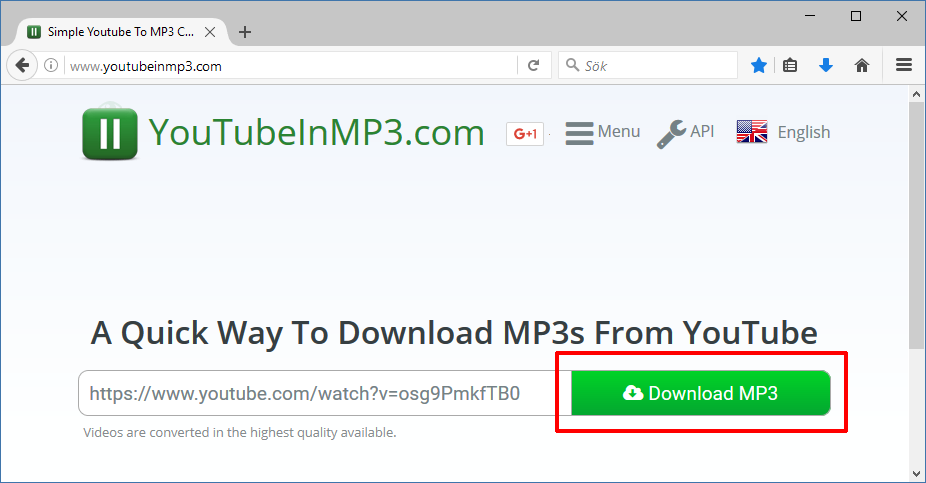 YouTube till MP3 - Ladda ner MP3 - Download