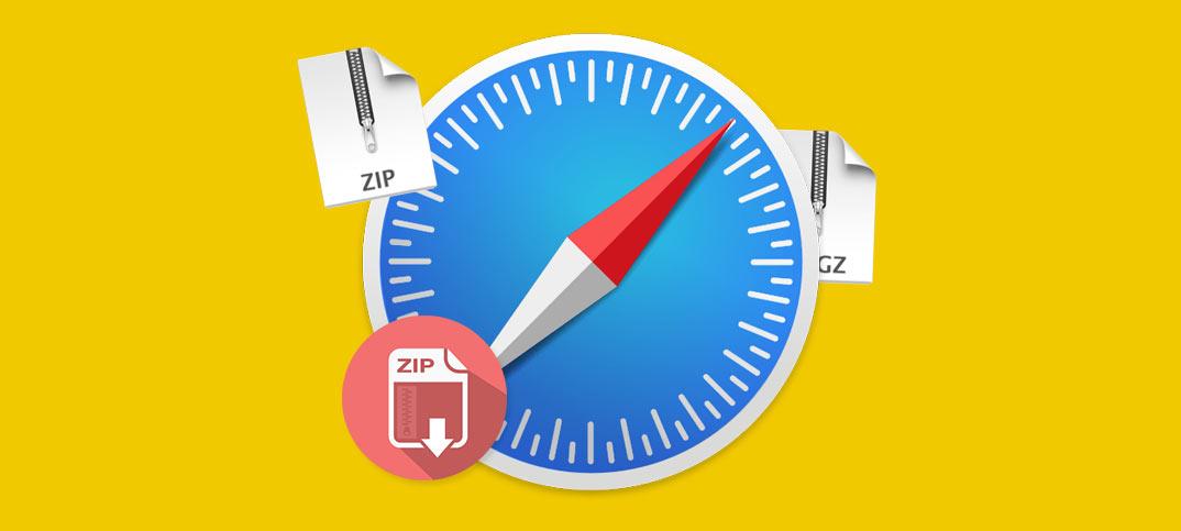 Safari - Packar upp ZIP-filer automatiskt på Mac - Stäng av
