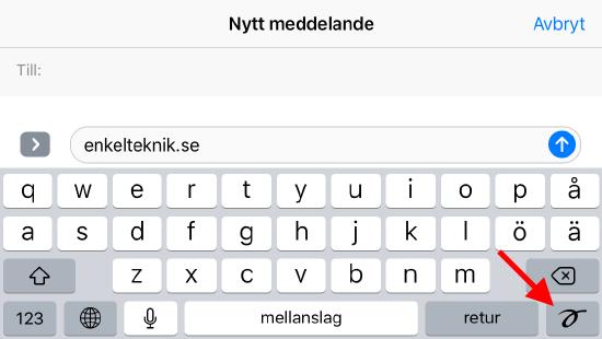 iPhone - Få tillbaka handskrift istället för tangentbord
