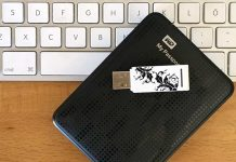 Visa extern hårddisk - USB-minne - på Skrivbordet - Mac - MacOS