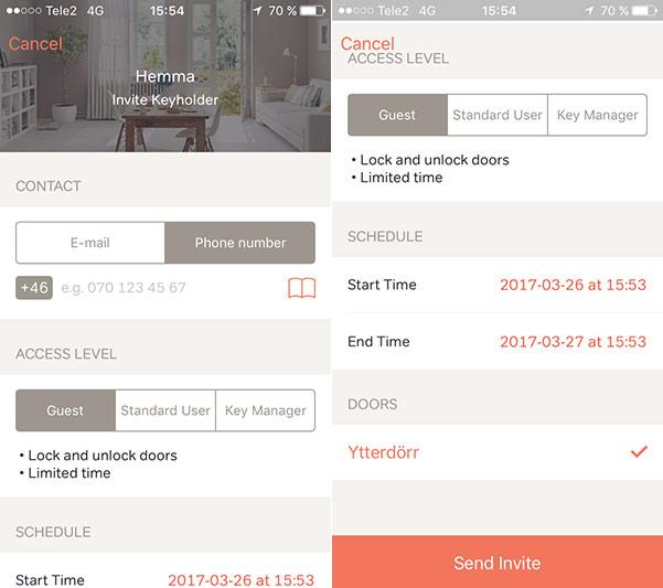 Glue Smart Lock - App - Dela ut lås till någon