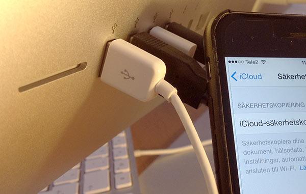 iPhone - Laddar - Koppla ur när du stängt av datorn