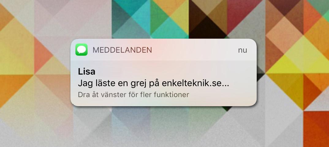 Stäng av förhandsvisning - Direkt visning - av SMS och meddelanden på iPhone