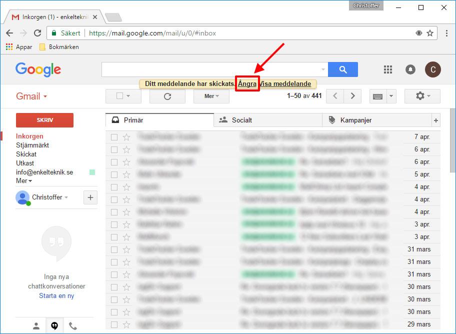 Gmail - Ångra skickat mejl - E-post-meddelande