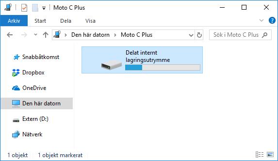 Android - Telefon - Dator - USB - Internt lagringsutrymme