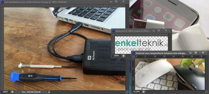 Flytta lager - Bilder - mellan olika dokument - bilder - projekt - Photoshop