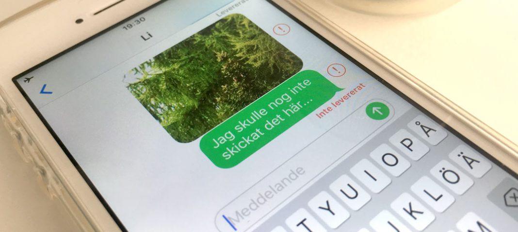 Stoppa - Gör så ett SMS - Meddelande inte skickas på iPhone