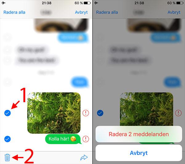 iPhone - Radera meddelande som inte skickats - Flygplansläge