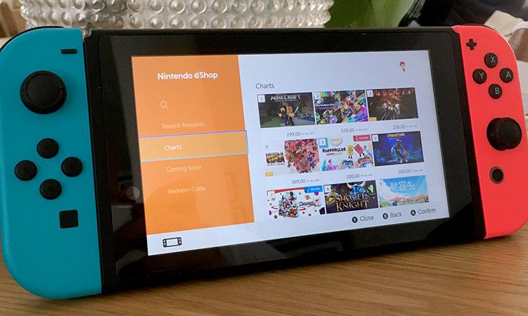 Nintendo e-shop - Switch - Snabbare