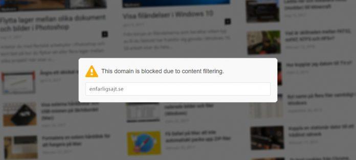 Blockera webbsidor hemsidor på dator telefon - OpenDNS