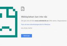 Se en hemsida - webbsida - sajt som ligger nere - Äldre version