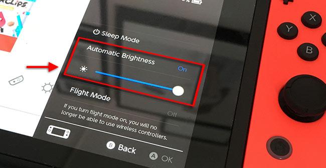 Nintendo Switch - Sänk ljusstyrkan på skärmen - Spara batteri