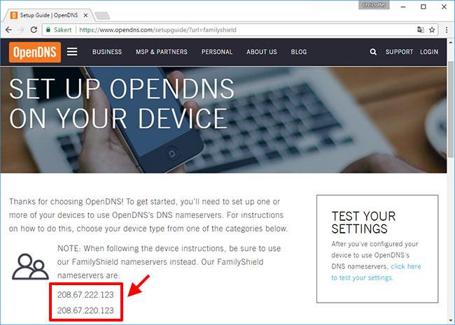 OpenDNS - DNS-servrar - 20867220123