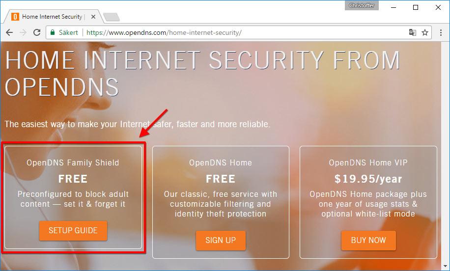 OpenDNS - Kom igång - Spärra webbsidor