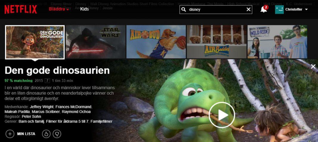 Disney tar bort sina filmer från Netflix i USA