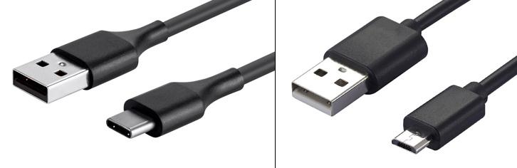 USB till USB C - USB till Micro USB - kabel