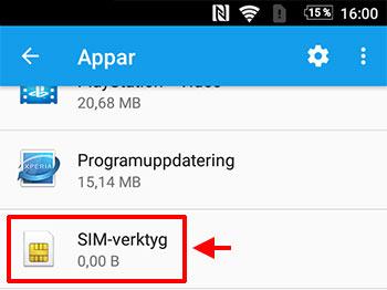 Android - Rensa cache-minnet för SIM-verktyg