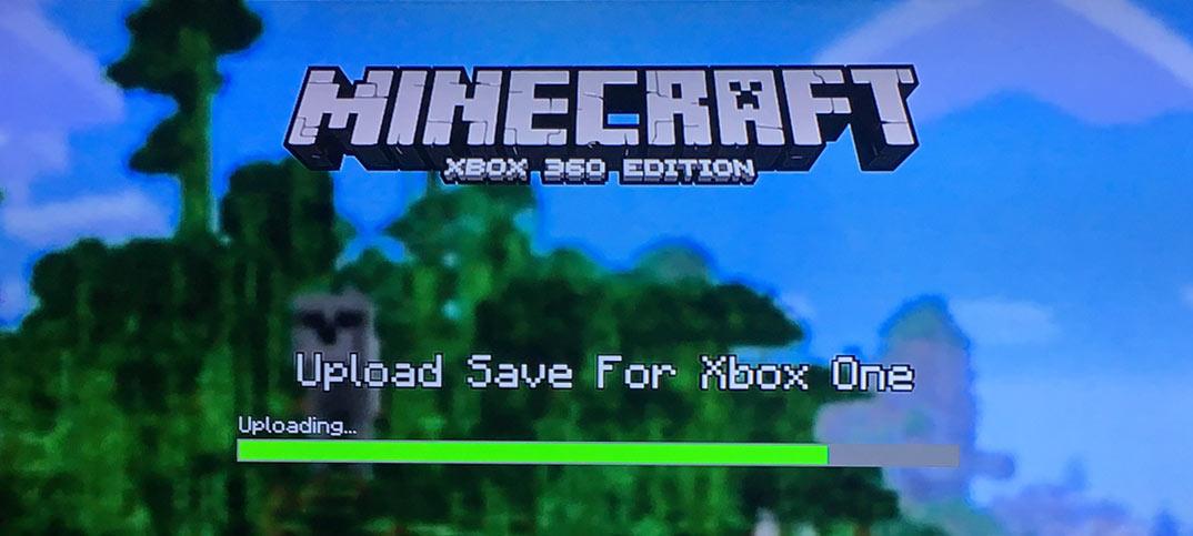 Minecraft - Flytta världar från Xbox 360 till Xbox One