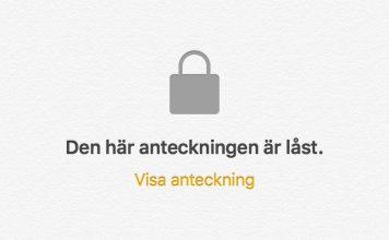 Lås anteckningar på iPhone och iPad med lösenord