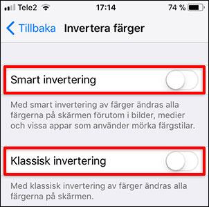 iPhone - iPad - Smart invertering - Klassisk invertering