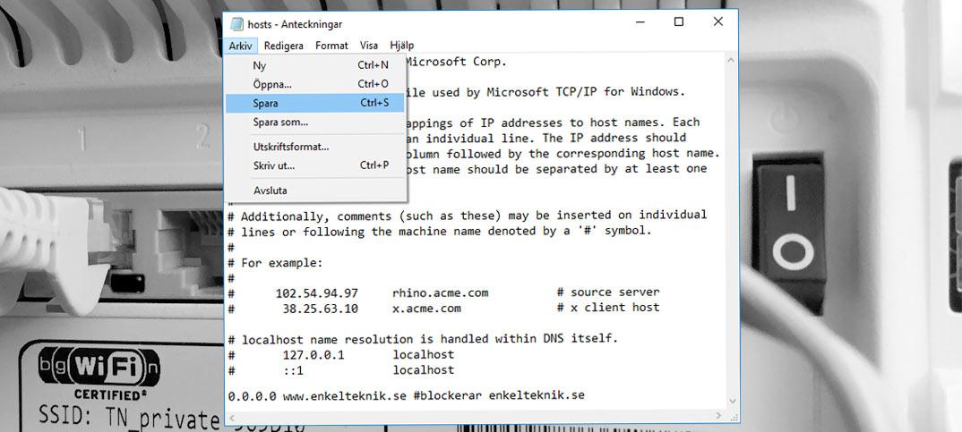 Ändra HOSTS-filen på Windows och Mac OS