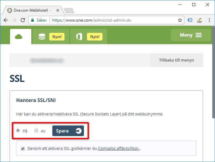 Aktivera SSL - Webbplats - Hemsida - Sajt