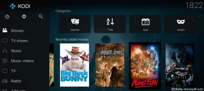 Kodi - XBMC - Släpps till Xbox One